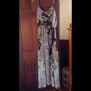 NWOT vintage print Maxi dress